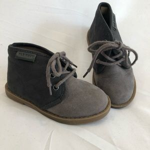 Infant Booties - Grey Suede 2 Tone - Size 6